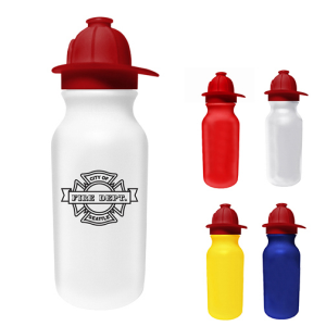 20oz. Value Cycle Bottle w/Fireman Helmet Push'n Pull Cap