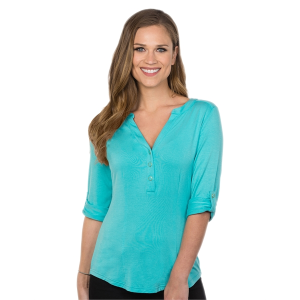 Penelope Women's Y-Neckline Knit Top